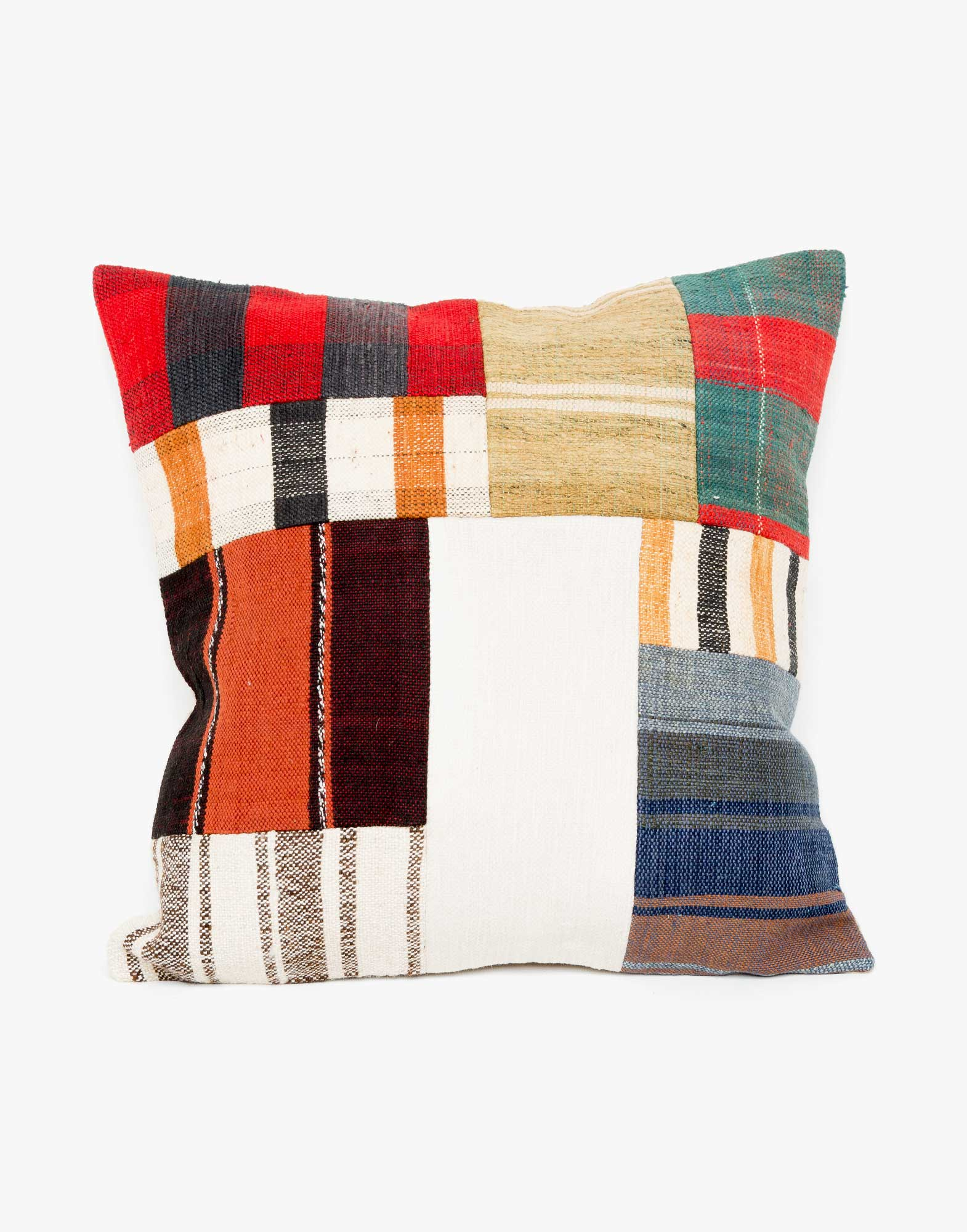 Handwoven Vintage Kilim Patchwork Pillow