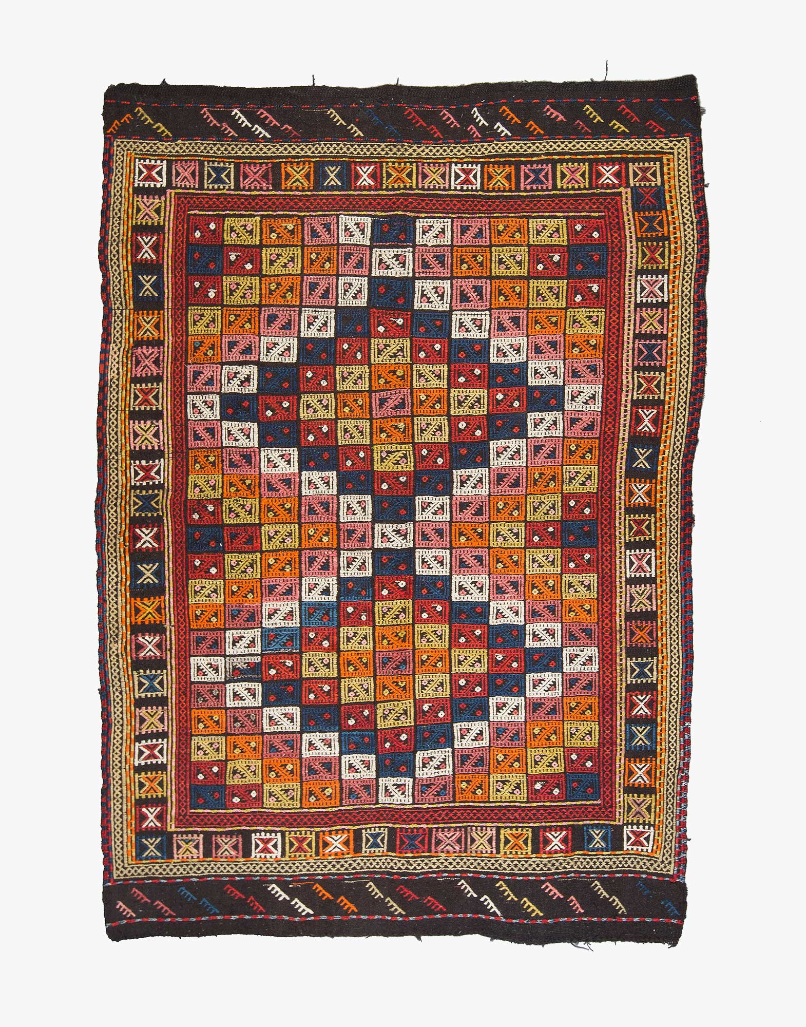 Bergama Cicim Embroidered Kilim