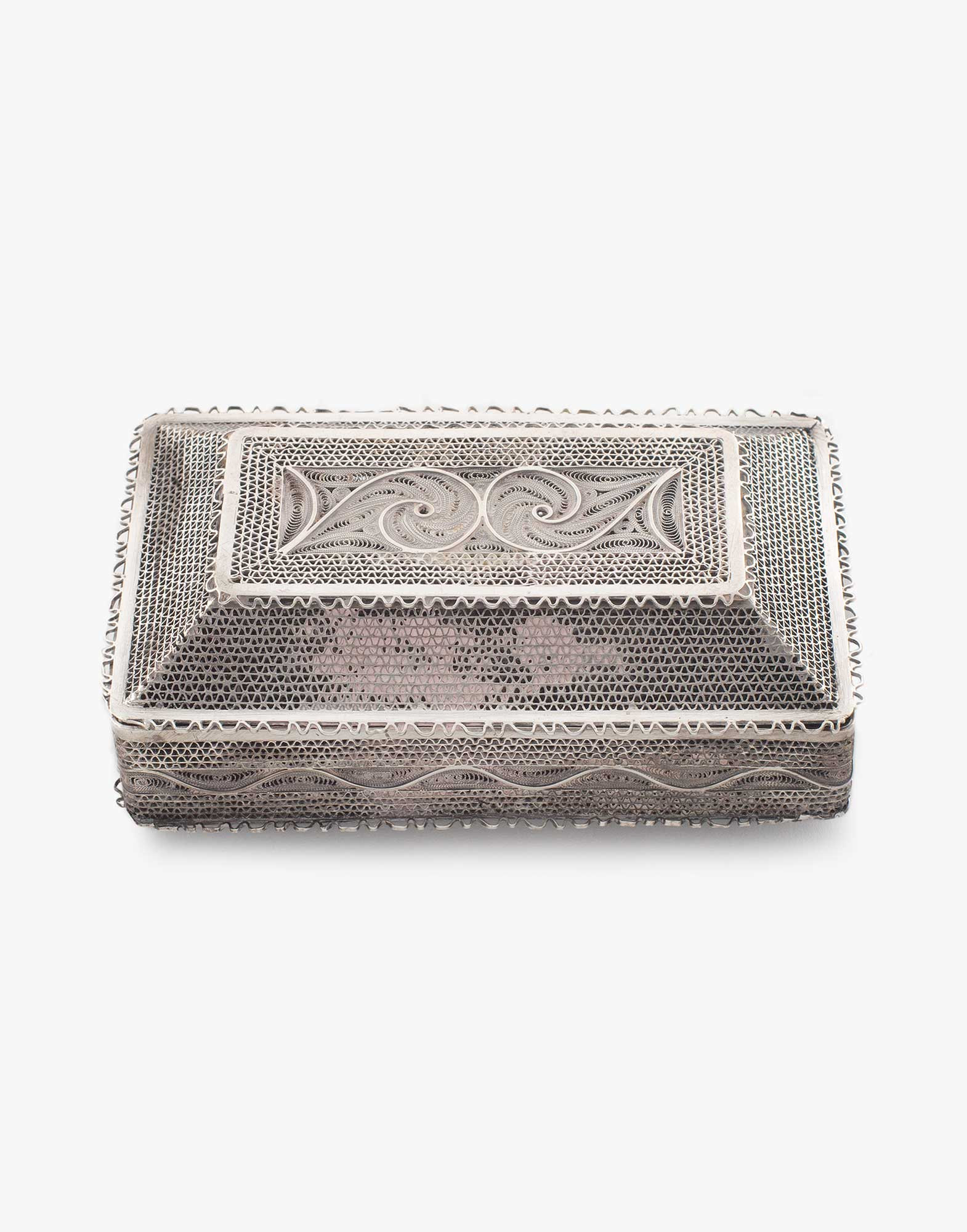 Traditional Silver Cigarette Box